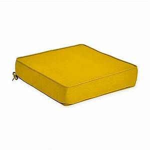 Buy forsyth outdoor deep seat cushion in lemon from bed for Bed bath beyond gel seat cushion
