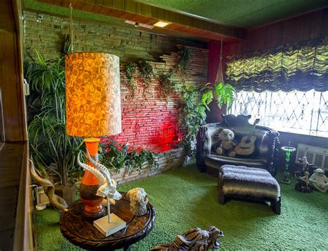 jungle room waterfall  graceland editorial photography