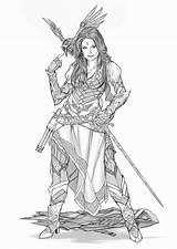 Pirate Deviantart Fantasy Bard Yamaorce Female Comm Character Warhammer Tattoo Google Dragons Dungeons Characters Warrior Rpg Concept Sketch Template Comic sketch template