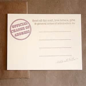 Change Address Cards Stationery