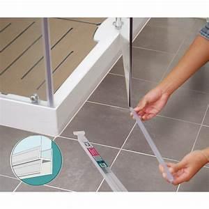 Joint bas double levre pour porte de douche longueur 1 m for Joint bas de porte de douche en verre