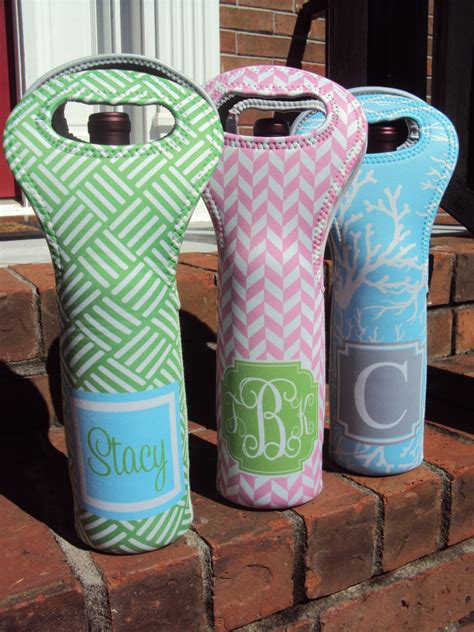 personalized wine tote monogrammed wine tote custom wine