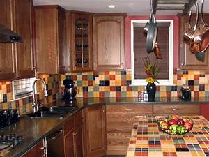 kitchen backsplash tile ideas hgtv With kitchen cabinets lowes with mexican tile wall art