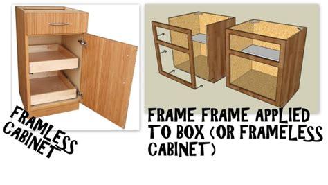 face frame cabinets vs frameless frameless face frame cabinets different you bet