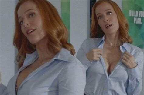 Gillian Anderson Strips For The X Files As She Unbuttons Her Blouse In Saucy Scenes Mirror Online