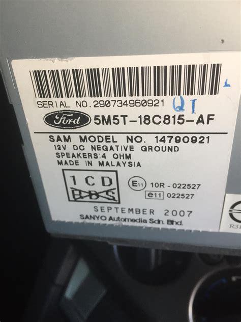 ford  unlocking radio  code  motor