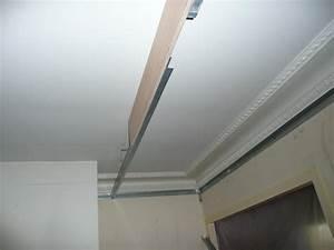 Pose D Un Faux Plafond En Ba13 : cr ation de caisson dit 39 39 corniche 39 39 ~ Melissatoandfro.com Idées de Décoration