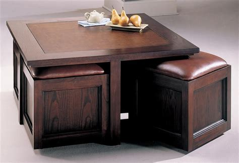 Buy Coffee Tables With Storage by Kanson Square Coffee Table With Storage Cubes Square