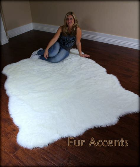 Imitation Rugs by Fur Accents Large Faux Fleece Area Rug Flokati