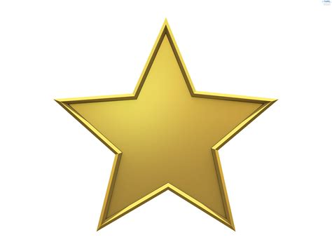 large star large golden clipart best