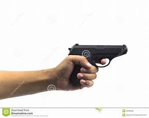 Hand Hold Gun Firing Royalty Free Stock Photo - Image ...