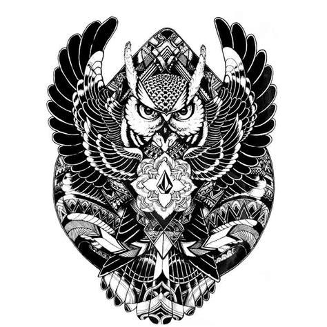 tatouage temporaire hibou tribal tempo tattoo