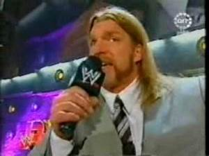 Triple H Hate to Disappoint ! - YouTube