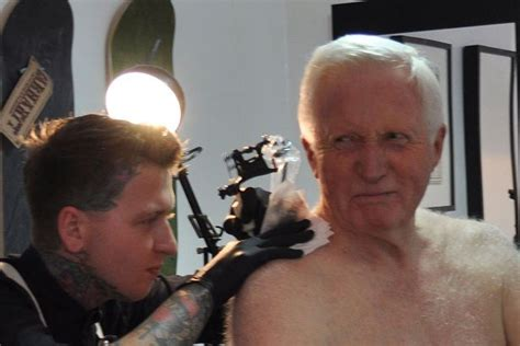 david dimbleby tattoo question time host  inking aged