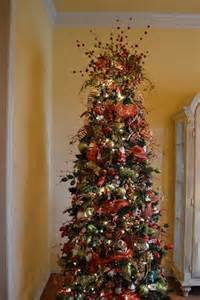 christmas tree decorating ideas with mesh ribbon