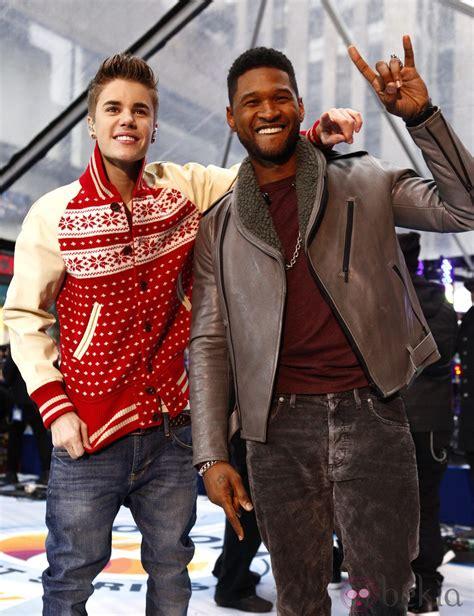 Justin Bieber y Usher actuando en el NBC'S Today show en