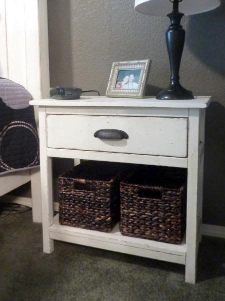farmhouse bedside table    home projects