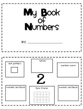 preschool number book my number review book by just reed teachers pay teachers 179