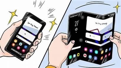 Foldable Samsung Phone Fold Phones Future Tri