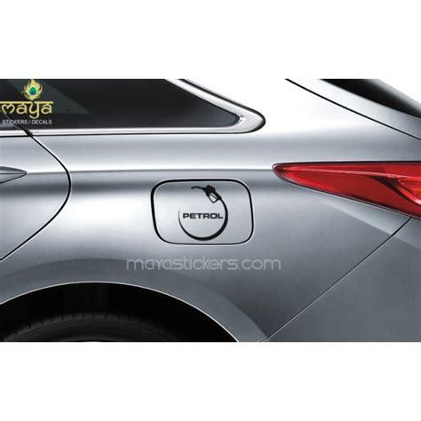 Unique Classy Fuel Type Indication Petrol Fuel Cap Sticker