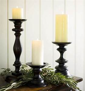 turned wood pillar holders traditional by pottery barn With kitchen cabinets lowes with turned candle holders