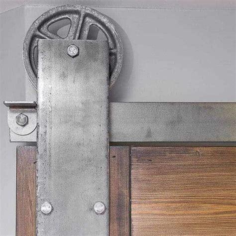 installing barn door hardware how to install sliding barn door hardware the handyman s