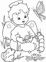Coloring Angel Pages Angels Sheets sketch template