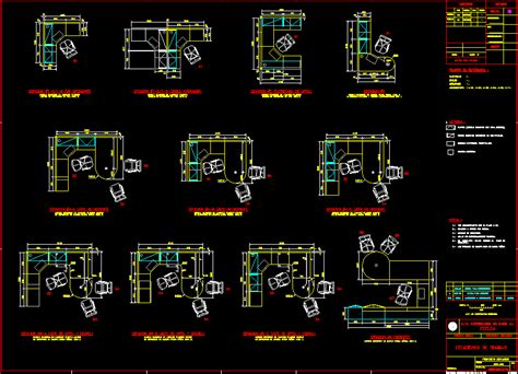 bureau dwg furniture autocad 2d autocad office furniture
