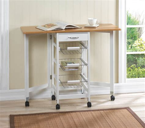 kitchen island table with storage space saving kitchen island trolley w extended
