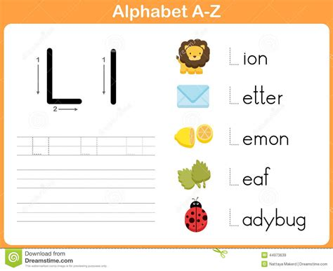 alphabet tracing worksheet writing   stock vector