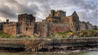 Castle Peel Castles Medieval Isle Superb Wallpapers