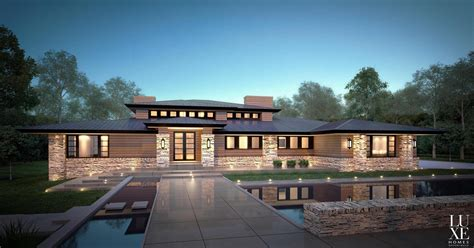 contemporary prairie style house plans modern prairie style house house style design special