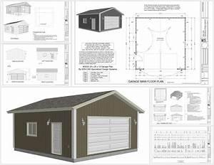 G553 24 x 25 x 10 garage plans SDS Plans