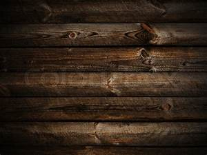 Photo of horizontal abstract dark wooden background with ...