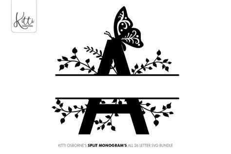 split letter    letter svg alphabet monogram