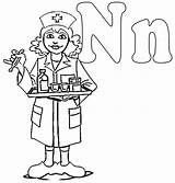 Nurse Coloring Pages Drawing Male Nurses Colouring Night Clipart Cliparts Shift National Activity Printable Letter Preschool College Workers Clip Children sketch template