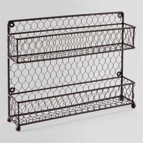 Two Tier Spice Rack by Wire Two Tier Spice Rack World Market