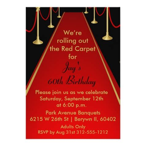 carpet invitation template carpet invitation hollywood theme sweet 16 zazzle