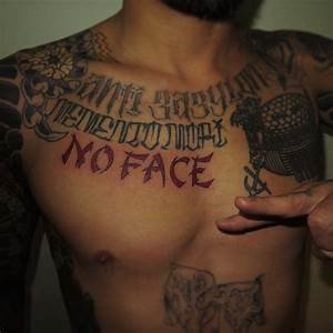 No Face Tattoo on Chest   Best Tattoo Ideas Gallery