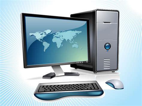 Vector Image Desktop by Desktop Computer Vector