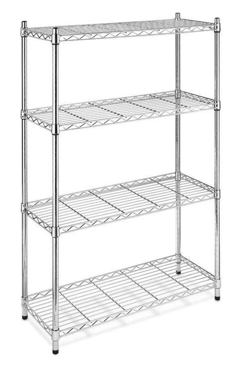 Metal Storage Shelves by New Chrome Storage Rack 4 Tier Organizer Kitchen Shelving