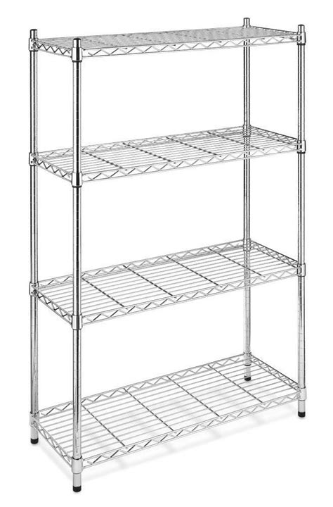 New Chrome Storage Rack 4tier Organizer Kitchen Shelving