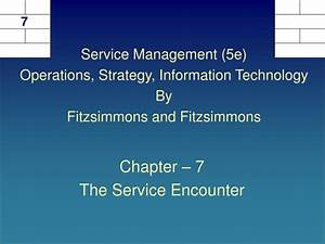 Service Management Fitzsimmons Ppt