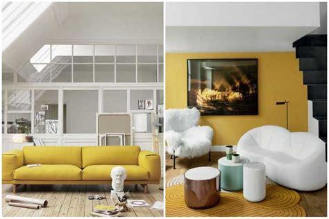 déco coussin canapé la couleur jaune moutarde pour un intérieur chaleureux