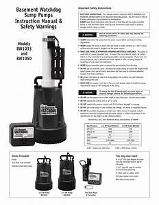 Basement Watchdog Bw1033 Instructions    Assembly