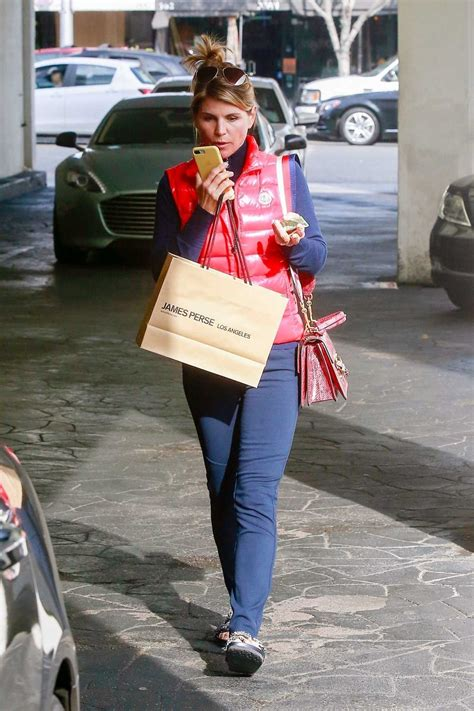 lori loughlin   red vest  shopping  beverly hills
