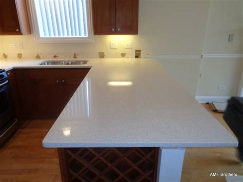 iced white quartz countertop ice white chicago il amf brothers