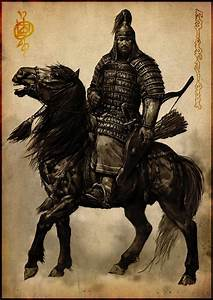 Drawn armor mongolian - Pencil and in color drawn armor ...
