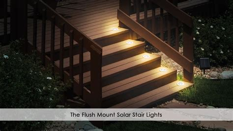 the flush mount solar stair lights