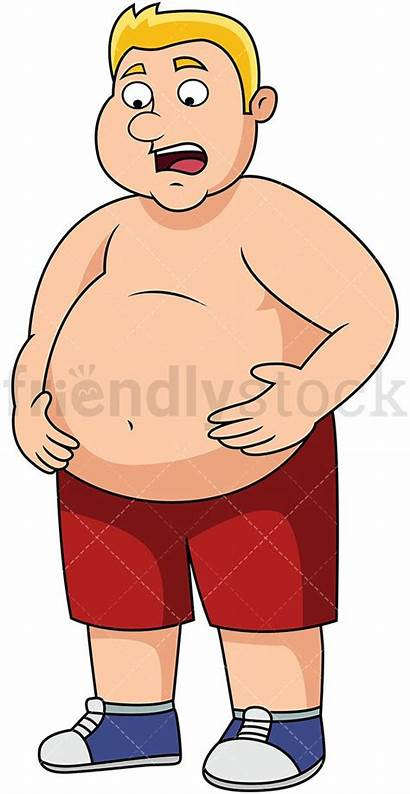Belly Clipart Overweight Fat Stomach Cartoon Vector